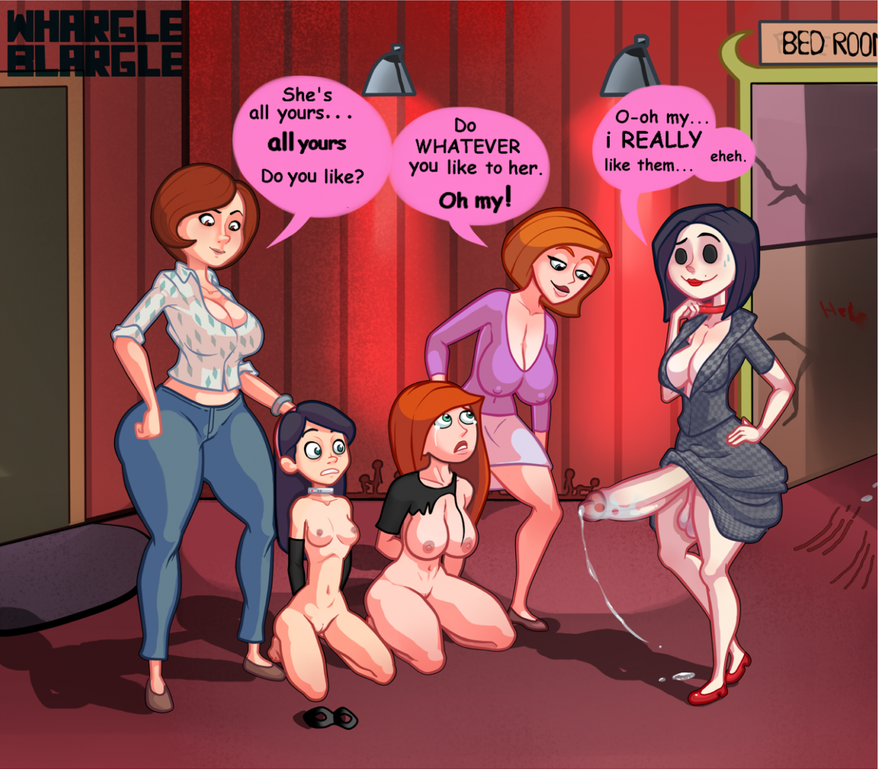 ann possible+helen parr+kimberly ann possible+other mother+violet parr