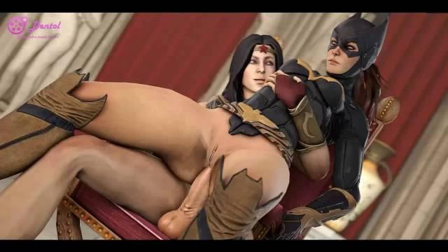 barbara gordon+batgirl+diana prince+wonder woman